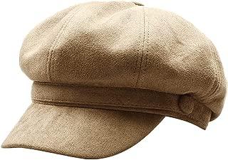Women Solid Color Suede Newsboy Hat Cabbie Painter Hat Visor Beret Fedora Peaked Cap
