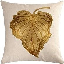 YJRIC Sofa kussensloop Tropische plant bladeren decoratieve katoen linnen kussenhoes kussensloop 45 * 45 gooien kussen Hom...