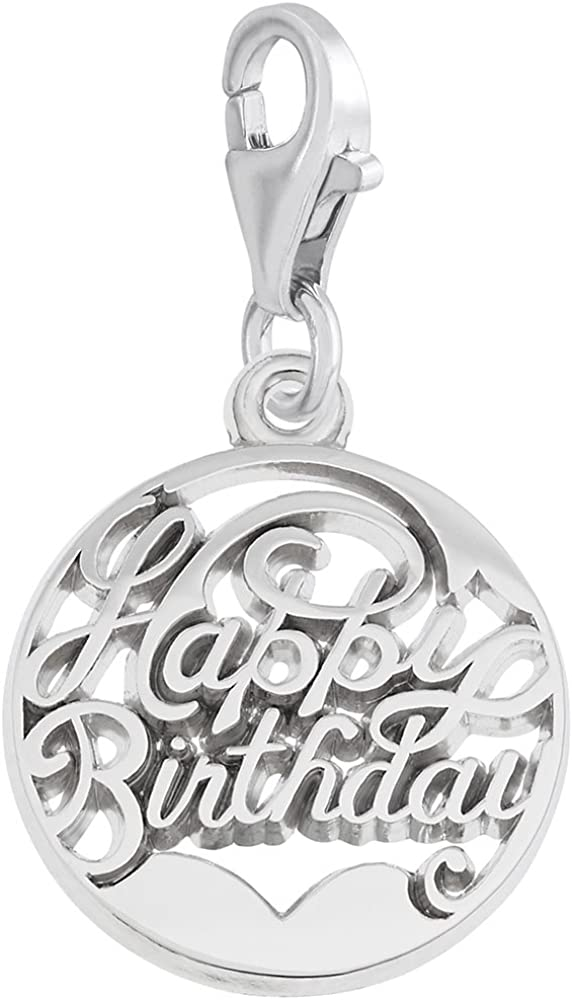Happy Birthday Charm With Lobster Claw Clasp, Charms for Bracelets and Necklaces