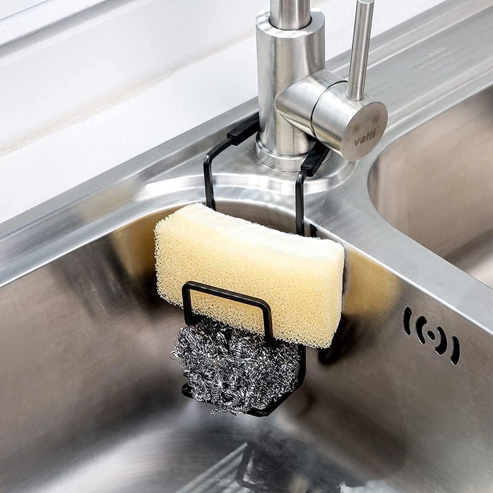 La Porta Esponja Cocina,La Cesta De Rejilla Para Esponja, Un Dispositivo De Succión De Fregadero Con Una Estructura Simple Que No Oculta Las Manchas De Agua.