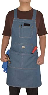wlbhhl Denim Apron, Durable Goods - Chef, Kitchen, Barbecue, Men's and Women's Work Denim Apron, Towel or Hand Hammer + To...