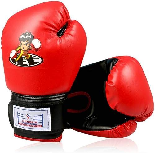 QJSTTB Gants De Boxe Remise en Forme Enfant Cadeau Couleur Bleu Enfants Enfants Funy Formation Non Muay Thai Combat Gants De Boxe
