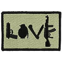 OneTigris オリジナルパッチ ワッペン 刺繍パッチ タクティカル士気ミリタリーパッチ 個性 (英語LOVE)