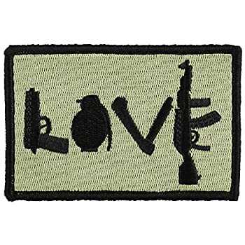 OneTigris Original Patch Tactical Morale Military Patch  Love - Olive Green