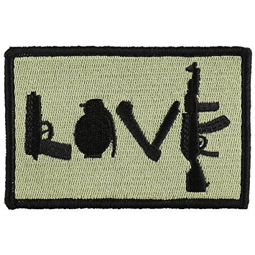OneTigris Moral Patch Taktisches Stickerei Klett-Patch (Love)