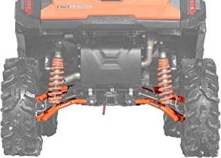 SuperATV Heavy Duty High Clearance Rear Offset A-Arms for Polaris General 1000 / General 4 (See Fitment) - Orange