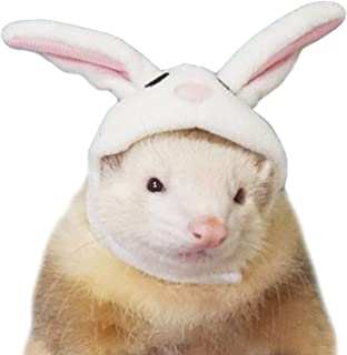 Alfie Pet - Layla Rabbit Hat for Party Halloween Special Events Costume for Mouse, Chinchilla, Rat, Gerbil and Dwarf Hamster