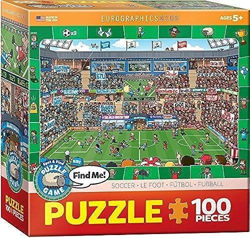 mejor servicio EuroGraphics Soccer Spot & Find 100 Piece Puzzle by by by EuroGraphics  punto de venta