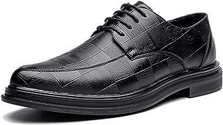 [ランボ] ビジネスシューズ メンズ 黒 24cm 24.5cm ドレスシューズ ブラック 柔らかい ハンサム 就職面接 飲み会 外回り 通勤 長持ち チェック柄 軽量 履きやすい 通気性