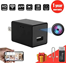 New 2019 WiFi Spy Hidden Camera Charger with Motion Detection Remote View,HD 1080P Spy Camera USB Charger,Wireless Nanny Cam, Hidden Cam,Home Surcurity Spy Cam