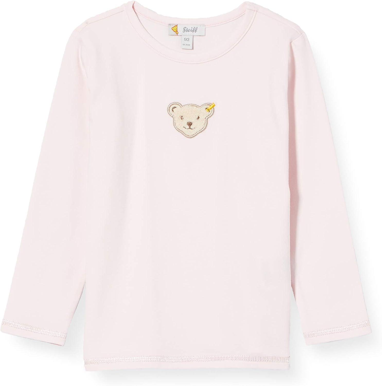 Steiff M/ädchen Mit S/ü/ßer teddyb/ärapplikation T-Shirt Langarm