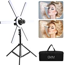 GVM 600S Led Video Lighting Kit, 90W Dimmable Bi-Color LED Ring Light with Stand, Detachable Light Bars, CRI 97+ 3200K-5600K Led Video Light for Camera, Smartphone, YouTube, Self-Portrait Shooting