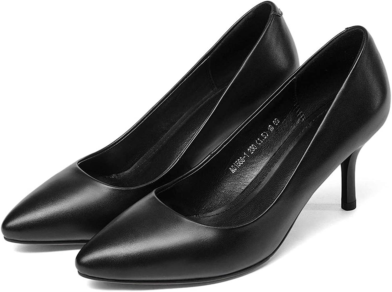 ZXXxxZ Stiletto Baotou High Heels Sandalen Frauen Spitze Kopf Flacher Mund Sandalen Leder Einzelnen Schuhe Wilde Sandalen Weiblichen Sommer