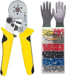 SANUKE Crimper Plier Kit SAE8 6-6 Self-adjustable Crimping Tools 1200 Terminal Connector Sleeves Hexagonal compression Use...