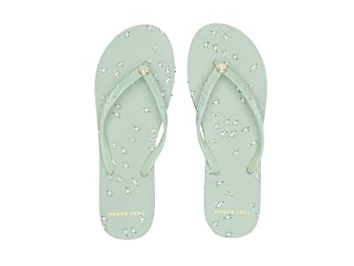 Tory Burch Printed Thin Flip-Flop (Mint Early Bird) Women