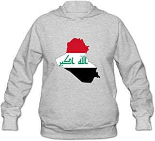 Flag Map Of Iraq Classic 100% Cotton Long Sleeve Sweatshirt For Adult