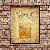 Erti567an Gerahmtes Whiskey-Poster, Bar-Kunstdruck, Winston