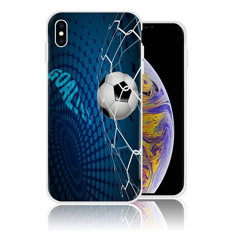 Silicone Case for iPhone 6 Plus and iPhone 6s Plus Personalized Design Printed Phone Case Shockproof Full Body Protection Anti-Scratch Drop Protection Cover - Goal Football