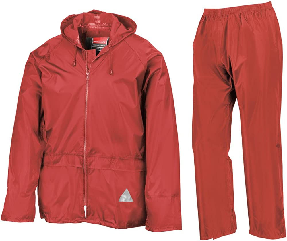 Result Heavyweight Animer and price revision waterproof jacket trouser Red suit Max 66% OFF S