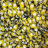Dekoration, Mini-Bienen- selbstklebend, zum Basteln, Stück: 9, Größe: 12mm, Material: Holz 9x12mm gelb