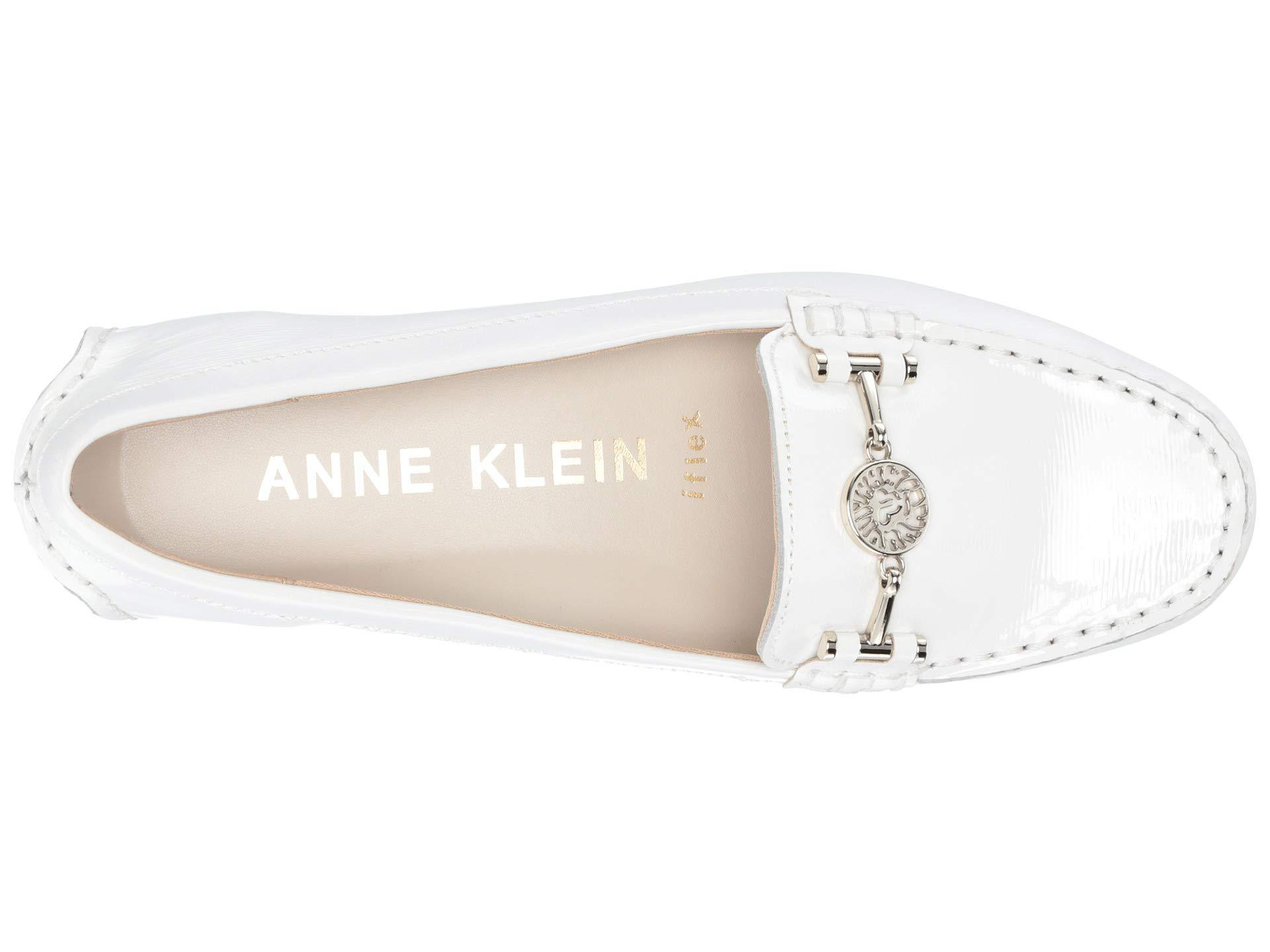 Anne Hulia White Loafer Klein Logo xR0qaw