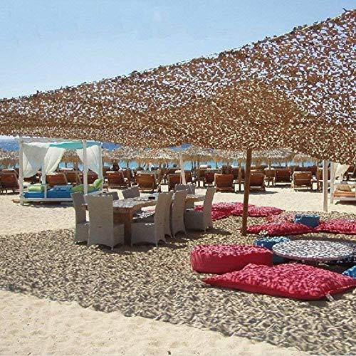 Sand Camouflage Sonnencreme Sonnenschirm Net Camouflage Net wasserdichte Mesh, Militär Camping Jagd Schießen Versteckte Blind Watch Party Dekoration 2m × 3m (Size : 4 * 6m)