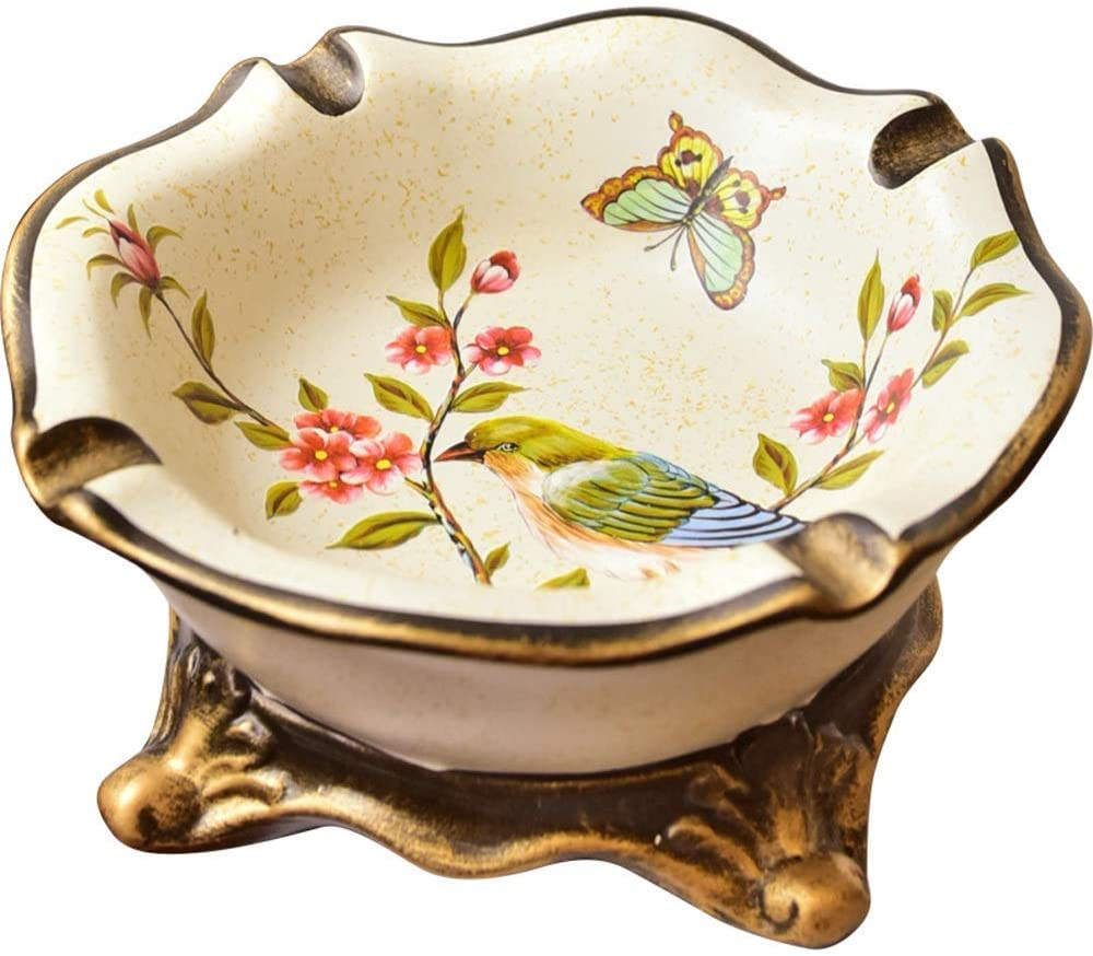 MZXUN Painted Ashtray European Country SEAL limited product Room Japan Maker New Retro Home Living Or