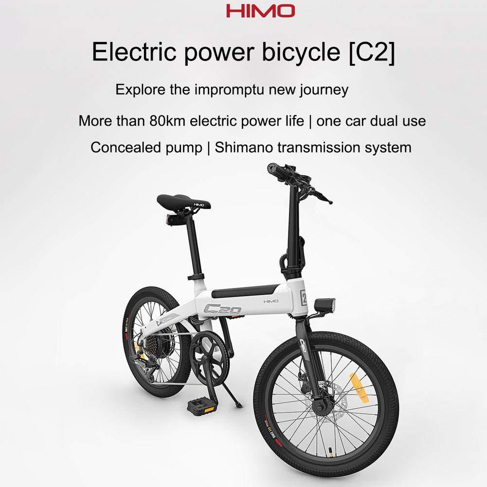 HIMO Bicicleta eléctrica Plegable Bicicleta eléctrica de 20 Motor Potente de 250 vatios Modo de conducción conmutable de Tres velocidades y 6 velocidades, hasta 25 km/h, kilometraje máximo 80 km: Amazon.es: Hogar
