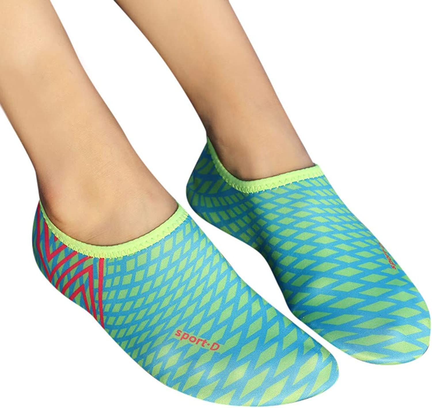 Womens Water Sports shoes Quick Dry Aqua Socks Swim Barefoot Beach shoes
