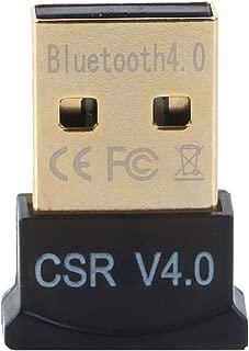 GENERIC Ultra-Mini Bluetooth CSR 4.0 USB Dongle Adapter for Windows Computer (Black:Golden)