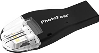 PHOTOFAST 4K iReader iOS microSD Card Reader | Supports microSDXC Cards up to 256GB | Supports Audio, Video, Images, Docum...
