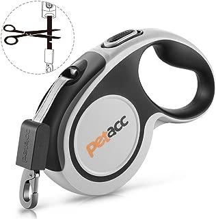 Petacc Retractable Dog Leash, Anti-bite Heavy Duty Pet Walking Leas 360° Tangle Free,16ft Strong Nylon Tape,One-Handed Brake, Pause, Lock (Large)