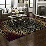Superior Sheffield Collection Area Rug, 8mm Pile Height with Jute Backing, Woven Fashionable and Affordable - 8' x 10', Multi-Color