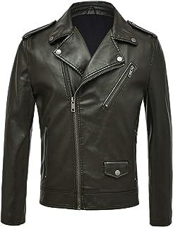 742f1848c Amazon.com: Greens - Leather & Faux Leather / Jackets & Coats ...