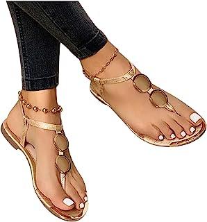 Sandales Plates Femmes, Confortables Orthopedique Chaussures Plateforme, Été Sandales Femmes Sandales Plates Toe T-Sangle ...