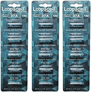 Loopacell A27 12V Battery MN27 27AE 23-279 GP27 27A 27GA Pack of 15