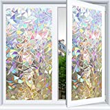 3D No Glue Static Decorative Films Glass Window Films Anti UV 17.7'315' (45cm x 800cm)
