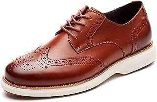 Mens Hybrid Brogue Oxford, Lace-up Wingtip Dress Shoes