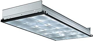 Lithonia Lighting PT3L MV 3-Light Fluorescent Parabolic Troffer, 4-Feet, Silver