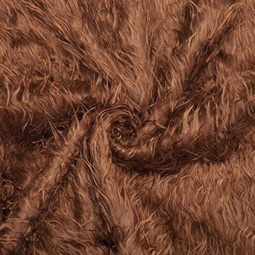 Neotrims Kunstfell Stoff, Furry Schaf Wolle, Fotografie, Fat Squares. Für die Fotografie Crafts & Apparel. 15tolle dezente, Natur & Bright Farben. Ganze Preis, 3. Mocha-Brown, 1 Meter