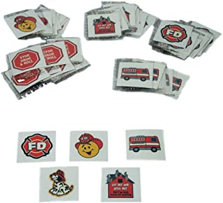 Fun Express Fireman Fire Safety Temporary Tattoos for Kids, 72 Count