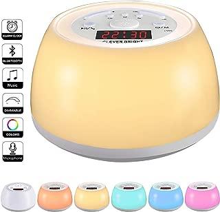 Wake Up Alarm Clock Sleep Aid Night Light with Bluetooth Speaker, Smart Wake Up Sleep Aid Night Light and Digital Alarm Clock, 8 Natural Sound Snooze for Kids Adults Bedrooms