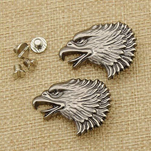 2pcs Metal 3D Animal Eagle Head Screw Back Conchos Botones para la bolsa de ropa Decoración para el hogar DIY Craft Buttons Supplies