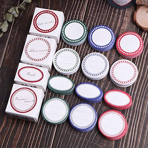 Lychii Scrapbooking Stickers, 600pcs Dekoration Papier Aufkleber, Rund Klebstoffe Aufkleber für Craft Scrapbook Album, Kalender Planer, DIY, Bullet Journal