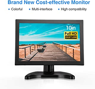 Eyoyo EYOYO EM10XS TFT-LCD All Sighl EDP 1920 * 1200 Resolution Cost-effective Portable Monitor with HDMI/BNC/VGA/USB Input and Speaker for FPV Video Display DVD PC Laptop