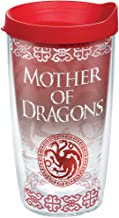 Tervis 1265656 HBO Game of Thrones - Mother of Dragons Insulated Travel Tumbler with Wrap & Lid, 16 oz - Tritan, Clear