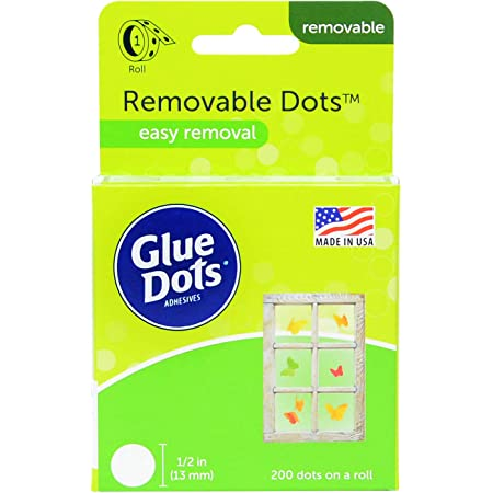Glue Dots 08248 ROLL Removable 1.5IN 200CT Acid Free, 1, Multicolor