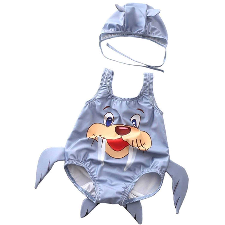 男の子の水着 乳幼児用ワンピース水着 0-3歳のお子様 ボーイズ海水浴用品 水着水着 (色 : グレー, サイズ : XXL)