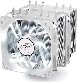 DeepCool NEPTWIN - Disipador de Calor para CPU (6 Tubos de Calor, Doble Torre, 120 mm), Color Blanco