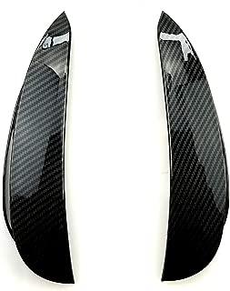 Carmonsons for Mercedes Benz E Class W213 Sport E200 E260 E300 E320 Front Bumper Stickers Fender Trim Cover E43 E53 AMG Car Styling (Carbon fiber black)